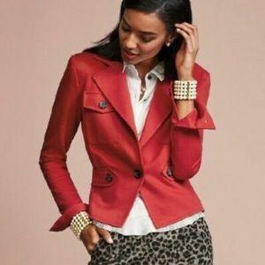 CAbi Little Red Jacket Blazer
